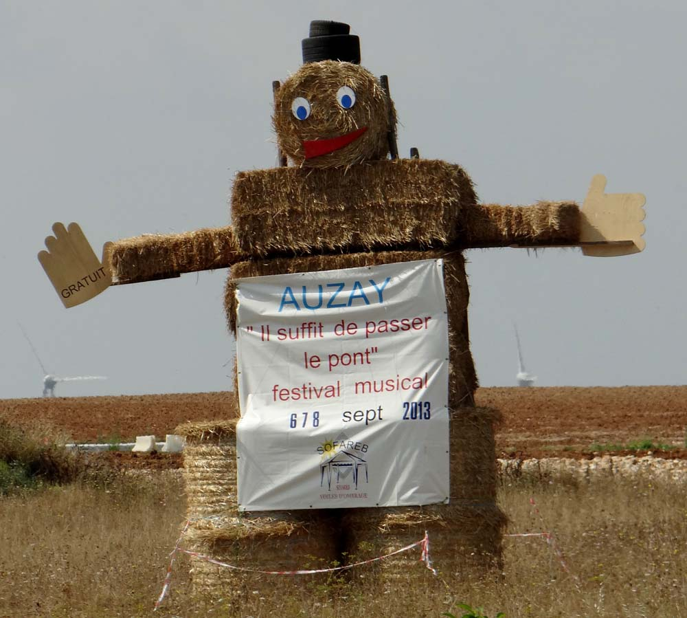 I love this time of the year in France and their advertising hay men...