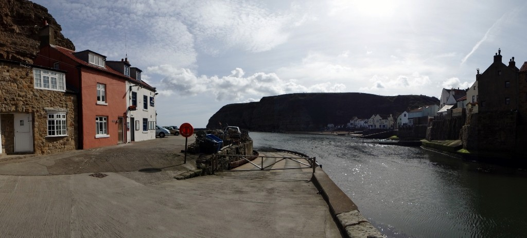 We stayed in the stone cottage on the far left - top crabbing spot off the ramp!