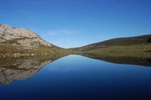 Lago Enol in Spain's Picos de Europa Mountains