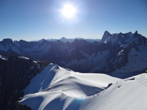 View from the Aiguille du Midi, France