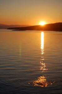 Sunset over the Adriatic, Croatia