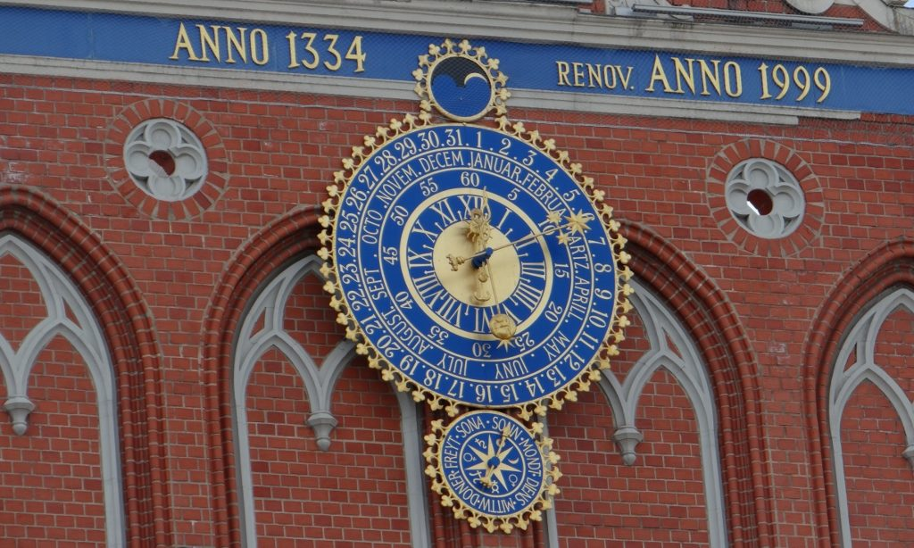 Famous clock in Riga