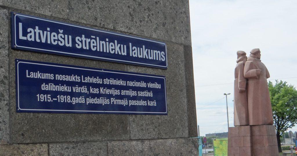 Granite Soviet-era monuments remain in Riga