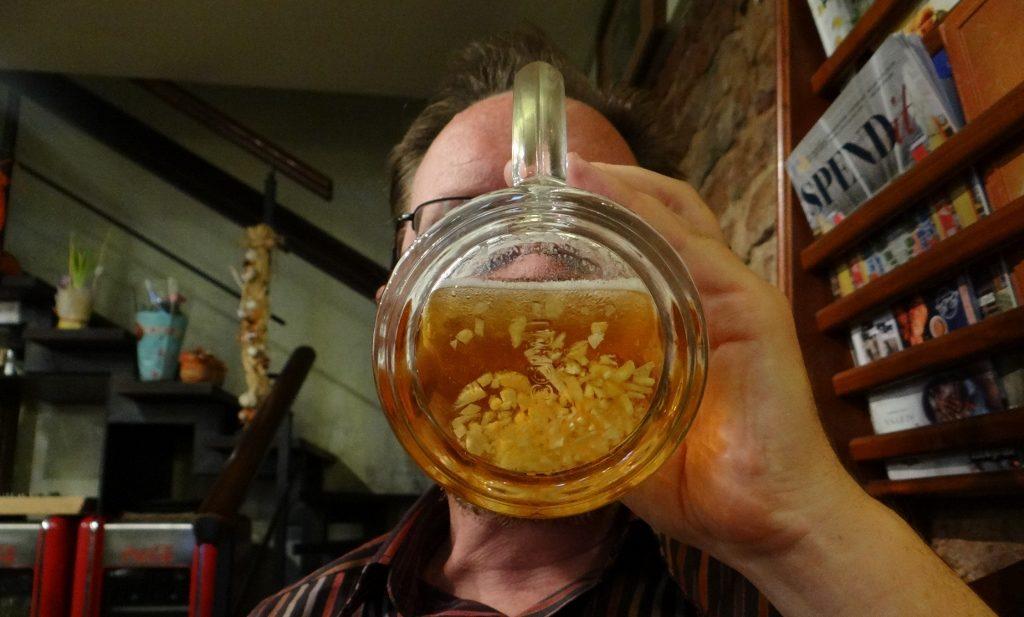 Hmmmm, garlic beer, yummy
