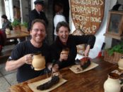 Ox rib, beer and good company - what else would you want?