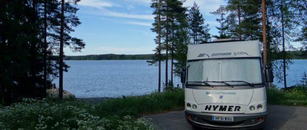 Zagan wild camping at Lake Toisvesi, Finland