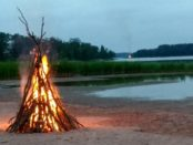 Midsummer Eve Bonfires Uusikaupunki, Finland