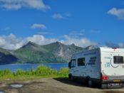 Motorhome parking Mefjordvaer Norway
