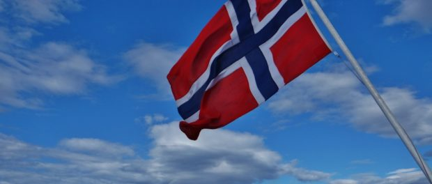 Norway Flag on Ferry