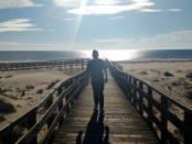 Over the boardwalk to Manta Rota beach