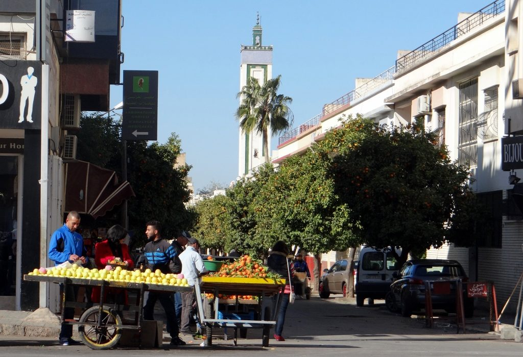 A street in Fes new town