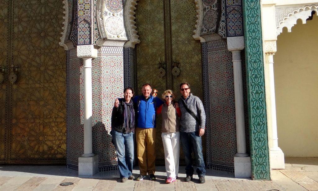 Us four (plus Tigger) at the Royal Palace