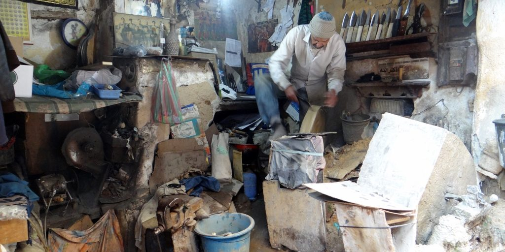 A typical (if a bit large) workshop in the Fes medina
