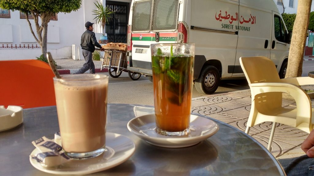 First mint tea of the trip: red hot sugary goodness