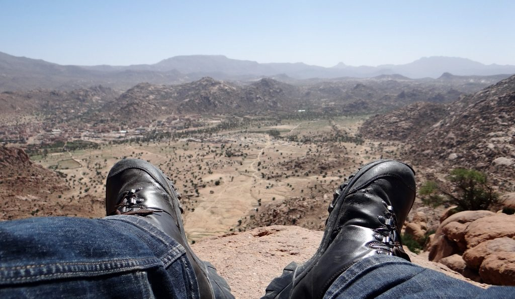 Looking out over the magnificent Anti Atlas Mountains in Morocco