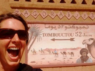 Tombuktou sign in Zagora