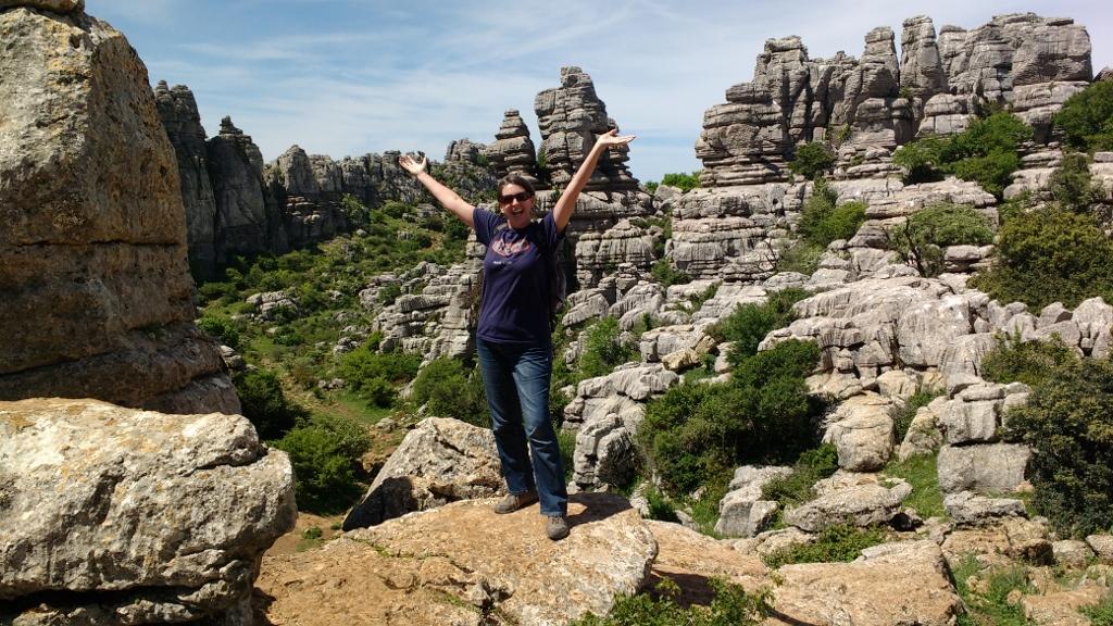 El Torcal Natural Park, about 45km North of Malaga