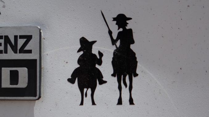 A Spanish Bumper Sticker - presumably Don Quixote