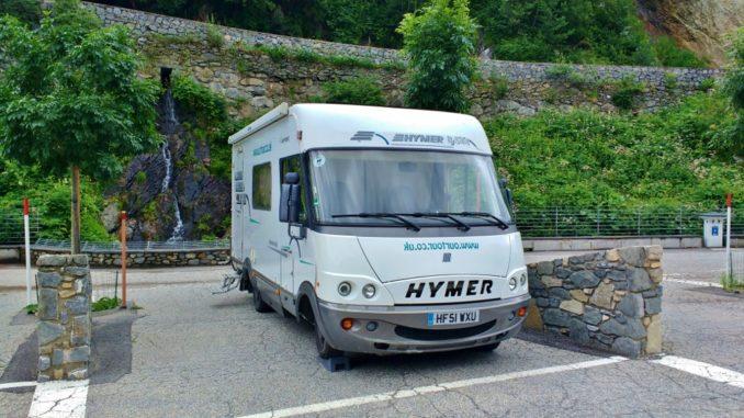 motorhome parking L'hospitalet-pres-l'Andorre, France