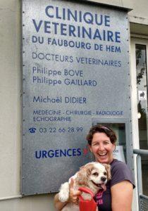 Vet for pet passport treatment Amiens France