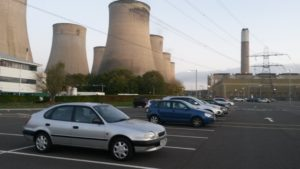 Our trusty chariot outside the power station I'm working at
